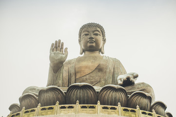 Statue of Buddha in a temple in China