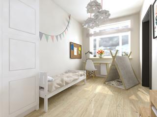bright Scandinavian children's room