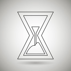 time flat icon design