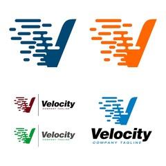 Pixel Speed - V Letter Logo Template
