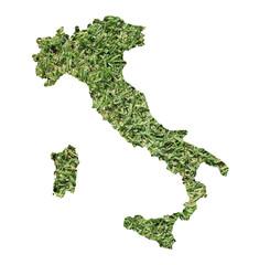 Italy environmental map