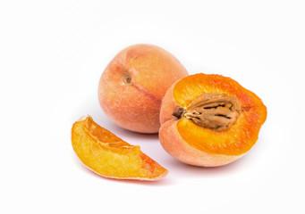 Peach Fruit  isolated.