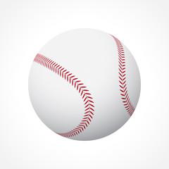 Realistic baseball ball on white background