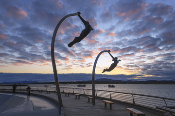 Waterfront of Purto Natales, Patagonia, Chile