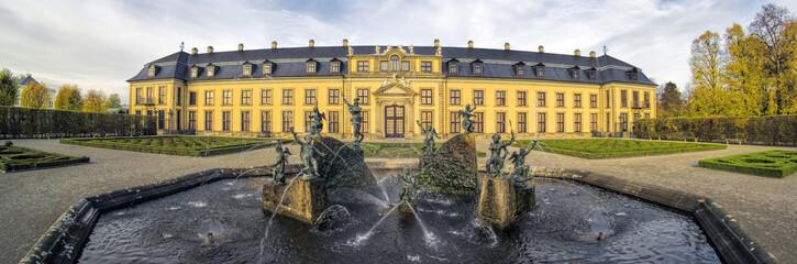 Panorama Schloss Herrenhäuser Gärten Herbst