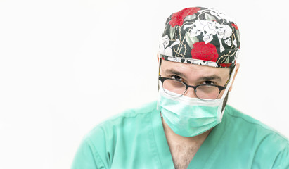Portrait of a doctor in operating room