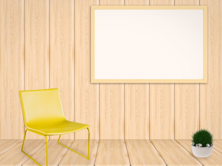 blank white board in living room