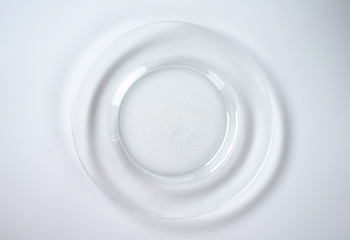 empty glass plate