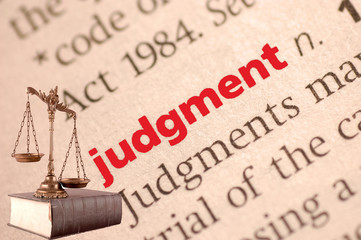 Dictionary definition of judgment