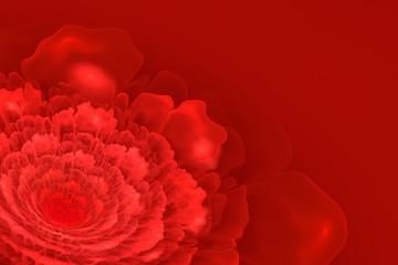 Red Fractal Blossom