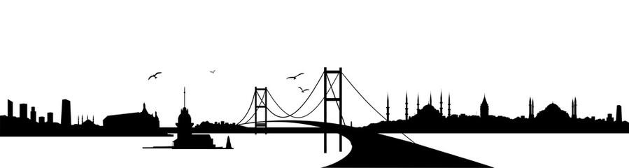 Istanbul Bosphorus Bridge City skyline
