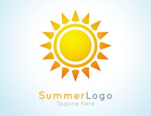 summer logo label. Summer icon.