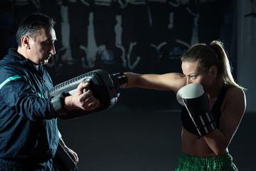 Kickboxing female training