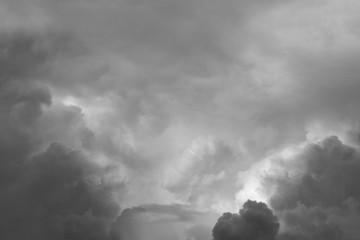 Grey clouds Wall mural