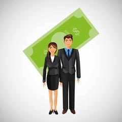 Businesspeople design. Corporate concept. Businessman icon