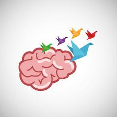 Creative design. Think concept. Mind icon