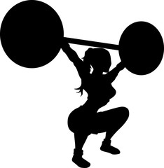 Cross fit woman silhouette