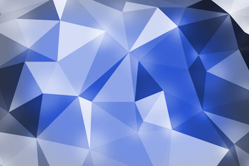 blue polygon pattern for background or web banner design.