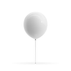 White blank Balloon realistic Mockup