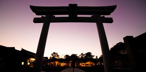 Japanese Shrine Gate silhouette
