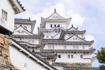 Himeji Castle behind wall