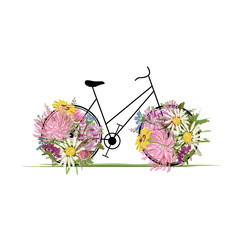 Floral bicycle for your design