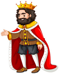King with red robe