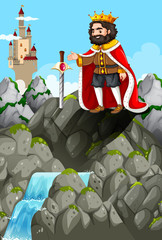 King and sword in the stone