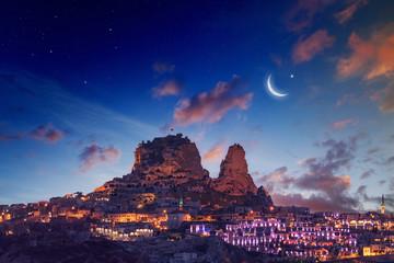 Uchisar castle in Cappadocia Wall mural