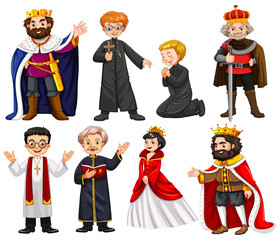 Different characters of king and priest