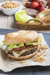 Burger with ingridients