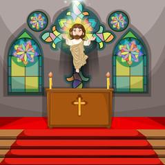 Jesus figure in the church