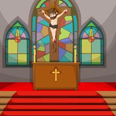 Jesus christ symbol in the church