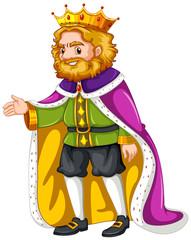 King wearing purple robe