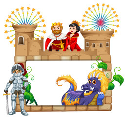 Frame design with fairytales characters