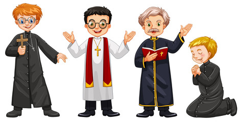 Four characters of priests