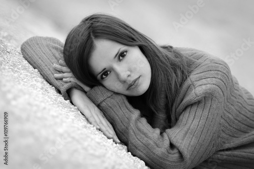 Emotional Portrait Of Abused Woman Stock Photo - Image of