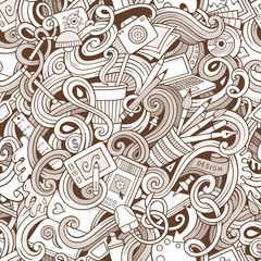 Cartoon hand-drawn doodles on the subject of Design seamless pattern