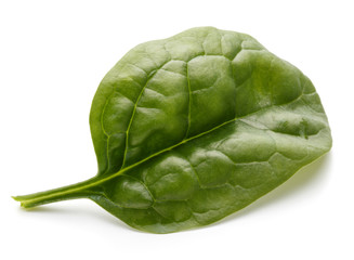 Fototapete - Baby spinach leaves isolated on white background cutout