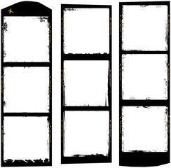 frames of medium format film, grungy photo frames, free copy space