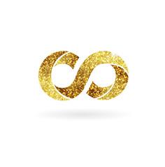 Logo of gold glittering star