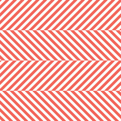 Red Herringbone Fabric Seamless Pattern in Vector