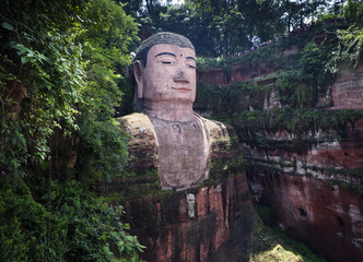 Giant Buddha statue, Leshan, Sichuan, China