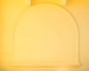 yellow wall with frame