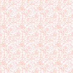 Seamless pattern with decorative roses