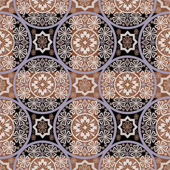 Bright abstract seamless lace pattern print background