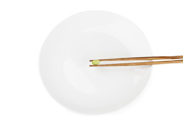 soybean on the chopstick
