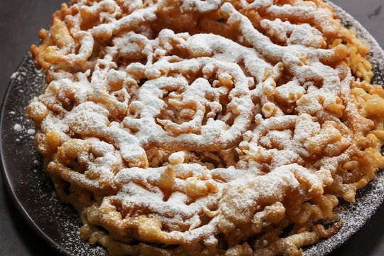 Funnel cake / Carnival food, selective focus