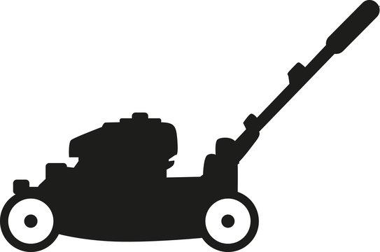 Lawn mower silhouette