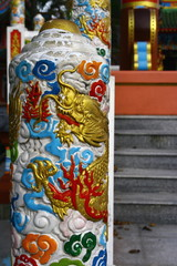 Close up of Huge Giant Joss Stick in Chinese Temple